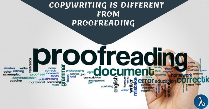 How copywriting is different from Proofreading