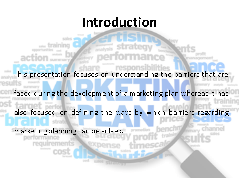 Introduction on marketing planning