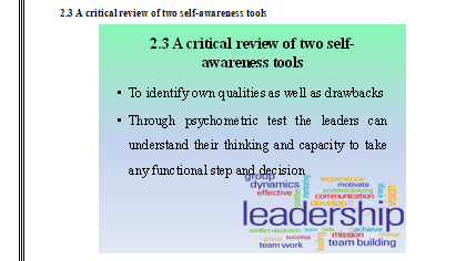 A critical review of two self-awareness tools