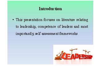 leadership, leader competence and self-awareness frameworks