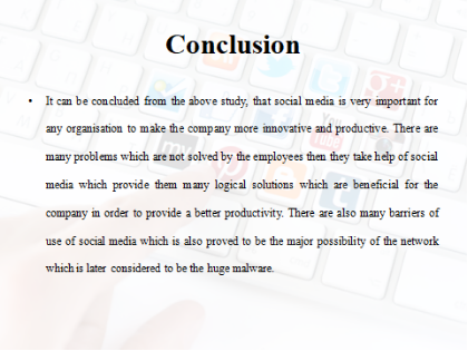 conclusion on social media in workplace