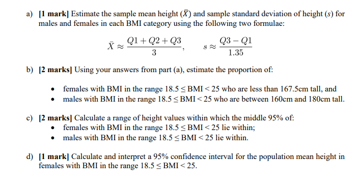 Question on BMI