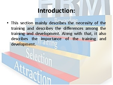 Introduction on Training