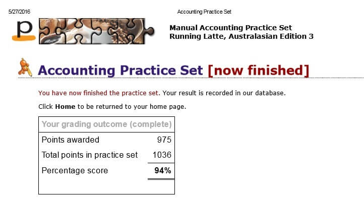 Perdisco Accounting Practice Set