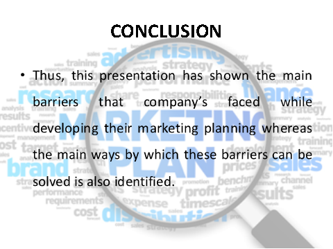 Conclusion on marketing planning