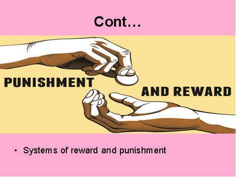 Systems of reward and punishment in Transactional leadership theory